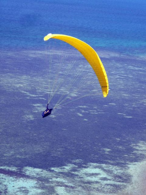 02 Sep 2010<br>Paragliding in the Ouen Toro is a small miracle of soaring urban site in the heart of Noumea, flying over the lagoon. <br> Noumea, New Caledonia by Google Translate
