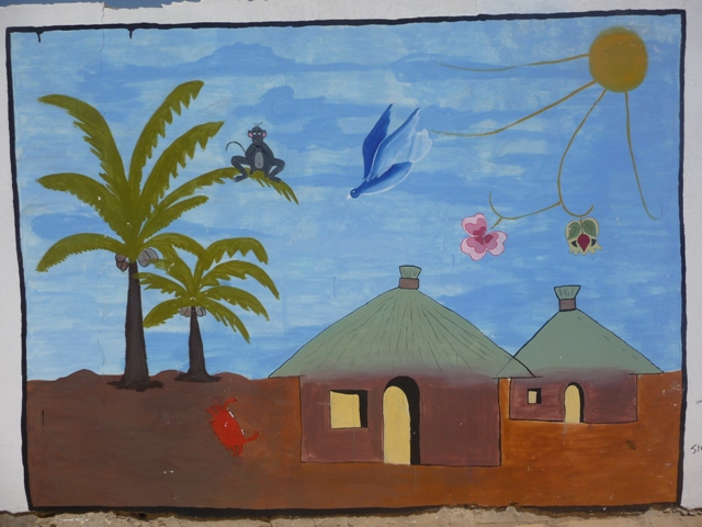 05 Nov 2008<br>Malika beach, Dakar. <br> At the friend Babs, it&#39;s also the wall paintings alongside the music and stories. A nice way to approach the world. by Google Translate