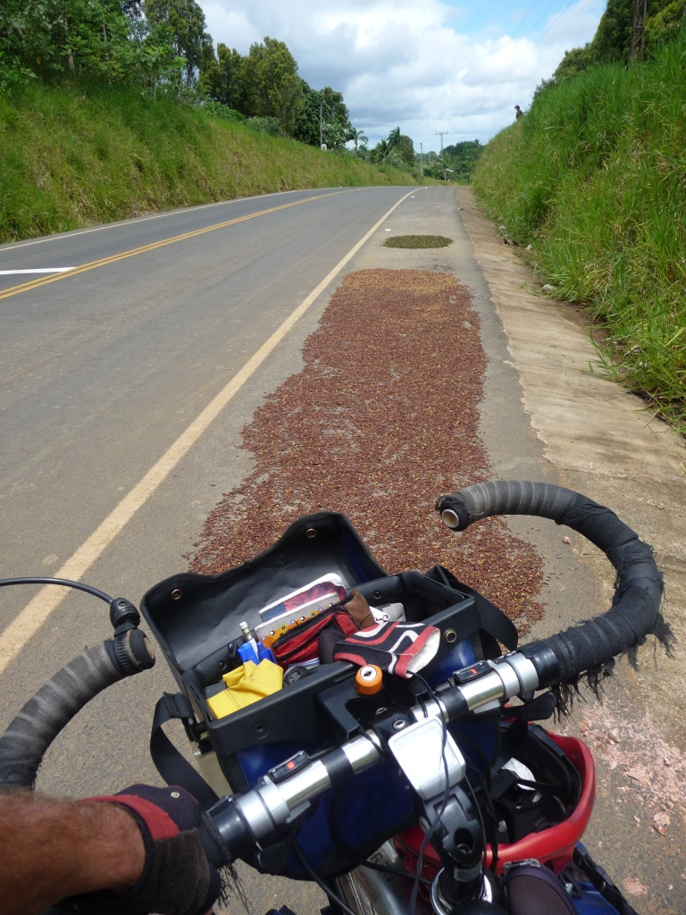 It's so hot the chili is dried directly on the road. <br> Itacare, Bahia, Brazil by Google Translate