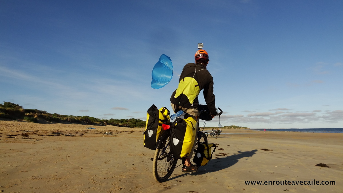 17 Dec 2013<br>Seb practicing kite biking before crossing the Nullarbor with it. - Australia, Torquay