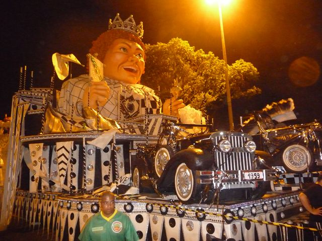 23 Feb 2009<br>Carnival in Rio. One of the carnival floats that make the international reputation of the event. <br> Rio de Janeiro, Brazil