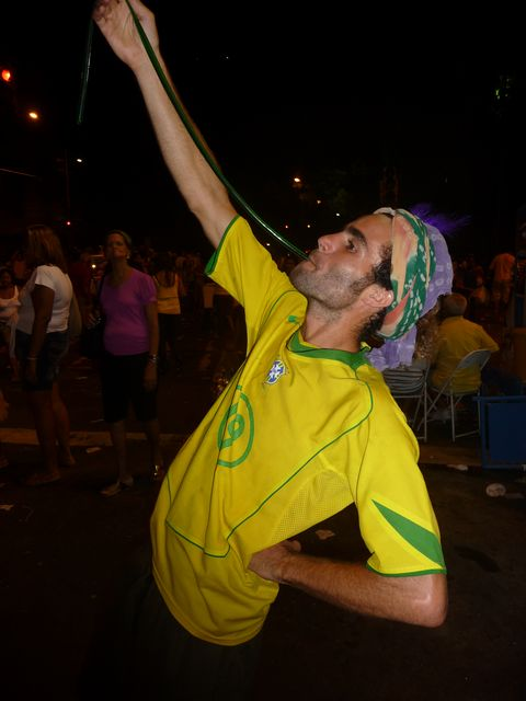 23 Feb 2009<br>Carnival in Rio. One of the glorious inventions in the area: the Cachaça Mr Freeze! <br> Rio de Janeiro, Brazil