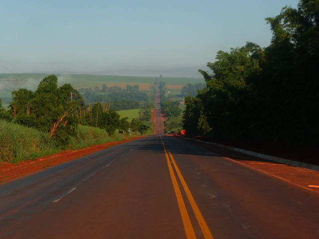15 Mar 2009<br>Straight Ahead! Parana is the size of France and the landscape does not change! <br> Parana, Brazil