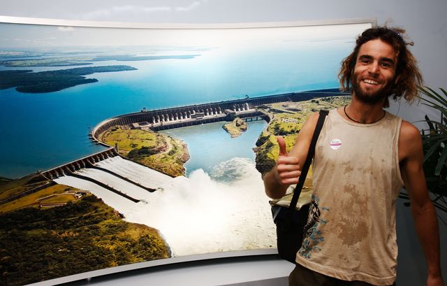 23 Mar 2009<br>Visit and interview the Itaipu dam. <br> Itaipu, Parana, Brazil.