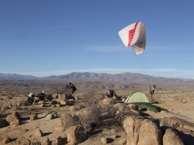 05 Jul 2009<br>Camp and inflation in the evening. <br> Atacama Desert, Chile