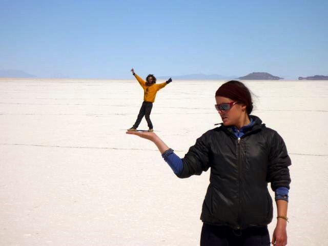 12 Sep 2009<br>The Salar white uniform ready to play special effects photos. In fact I am not so small, and no! Salar de Uyuni, Bolivia