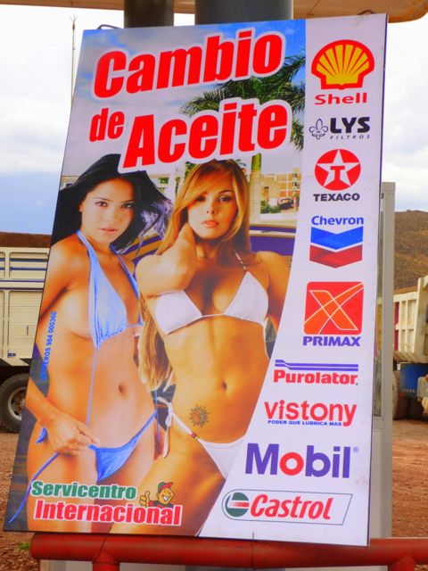 16 Oct 2009<br>The ads in South America and especially in Peru are degrading and basic. Girls are exposed almost naked to sell brands of motor oils, the world economic march towards progress! Lucre, Peru
