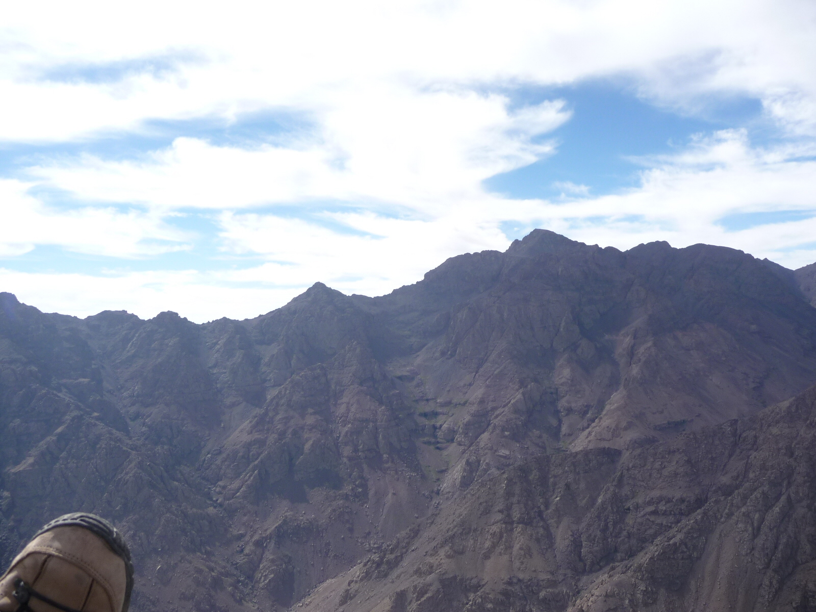 16 Sep 2008<br>View from the top of Toubkal for paragliding.