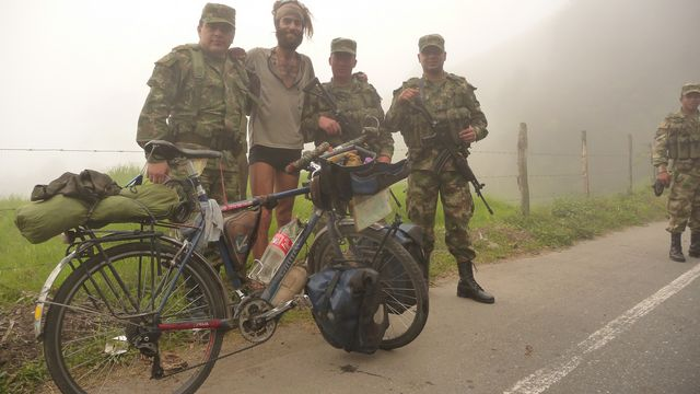 07 Jan 2010<br>The Pan-American Highway is extremely well guarded in Colombia. You meet the military all over the road. They are each very friendly to moi.Valdivia, Colombia