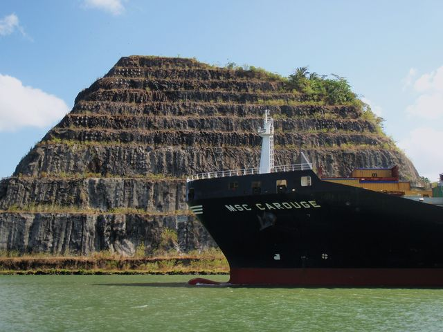 The foothills of the Panama Canal, a wonder of the world industriel.Canal of Panama, Panama