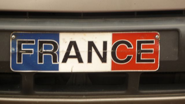 Plate of a car from the Embassy of France in Panama. Exiled for any traveler, it warms the heart to see her little winks to origines.Panama City, Panama