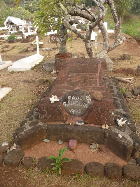 05 May 2010<br>Paul Gauguin the painter is buried not far from Jacques Brel.Iva Oa, Marquesas Islands