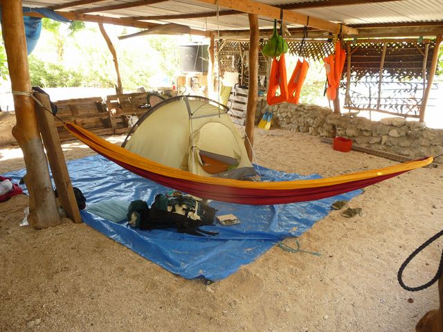 13 Jul 2010<br>Our camp Robinson.Makemo, Tuamotu Archipelago.