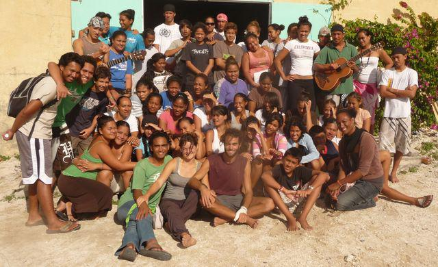 19 Jul 2010<br>Group Eucharistic Youth Movement of Tahiti with whom we spent a few jours.Makemo, Tuamotu Archipelago.