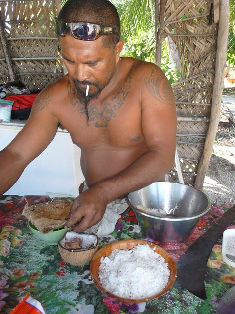 19 Jul 2010<br>Pani is our mentor in Robinson Crusoe. He not only lent us his motu (coconut farm) but we learn to fish, cook the coconut products mer.Makemo, Tuamotu Archipelago.